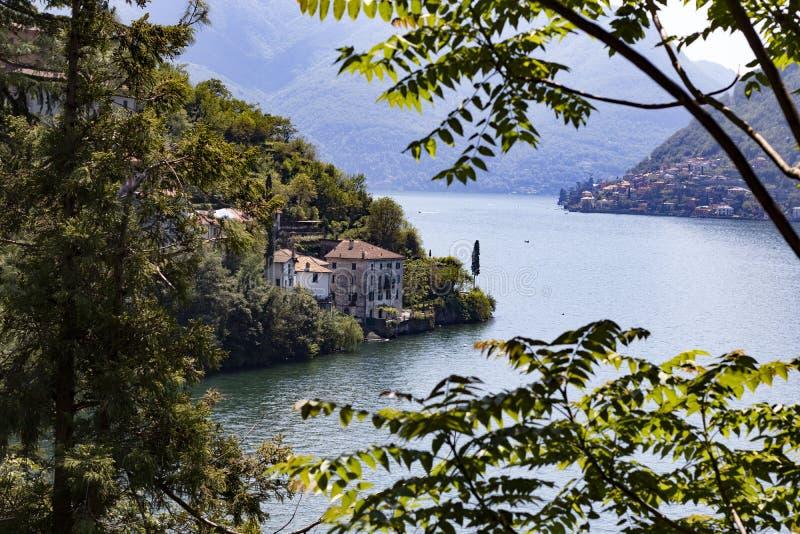 Nature of lake Como stock photography