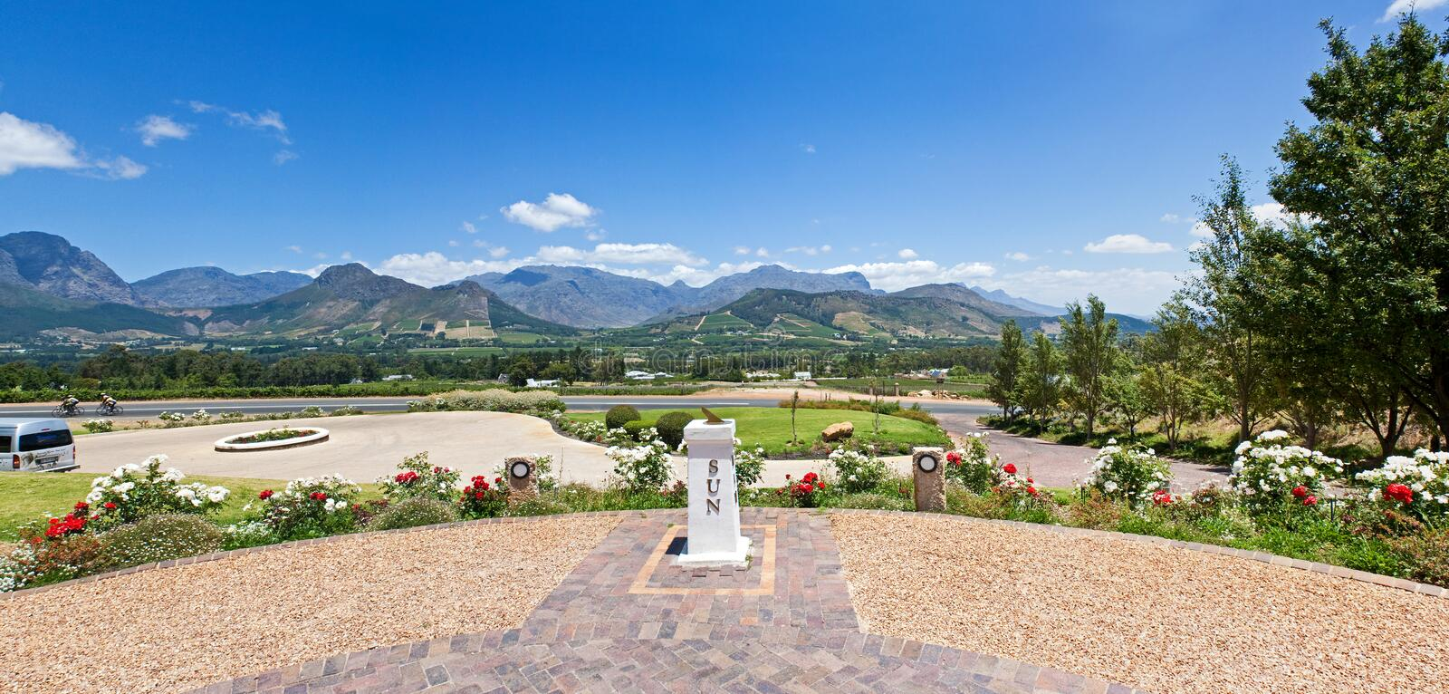 Panoramic Franschhoek Valley stock photos