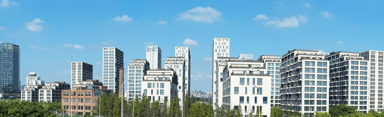 Download Panoramic Image Of Super Residential Buildings Stock Photo - Image: 26197270