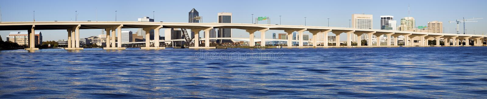 Panoramic Jacksonville royalty free stock images