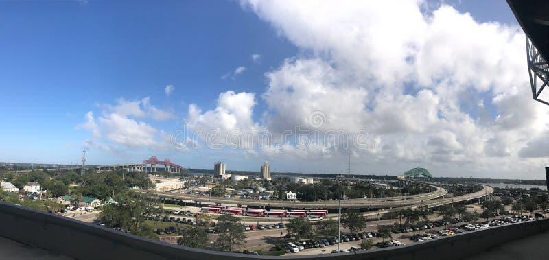 Panoramic of Jacksonville, FL. royalty free stock photos