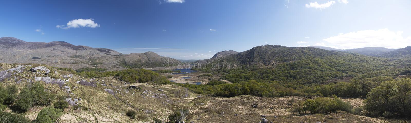 Panoramic Ladies View, Killlarney National Park royalty free stock photo