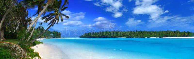 Panoramic Lagoon 2 stock image