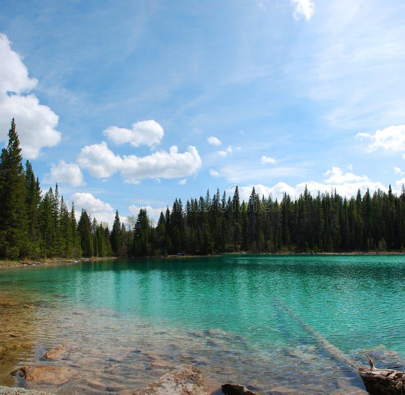 Panoramic lake royalty free stock photos