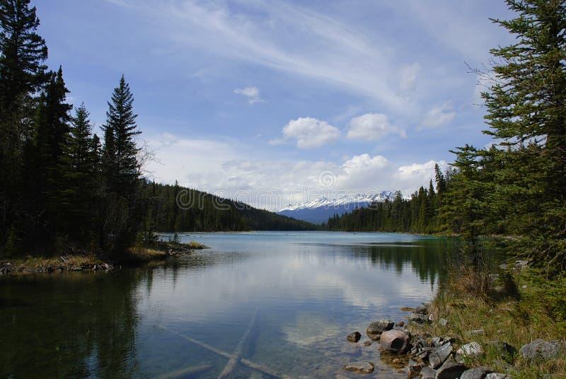Panoramic lake royalty free stock photo