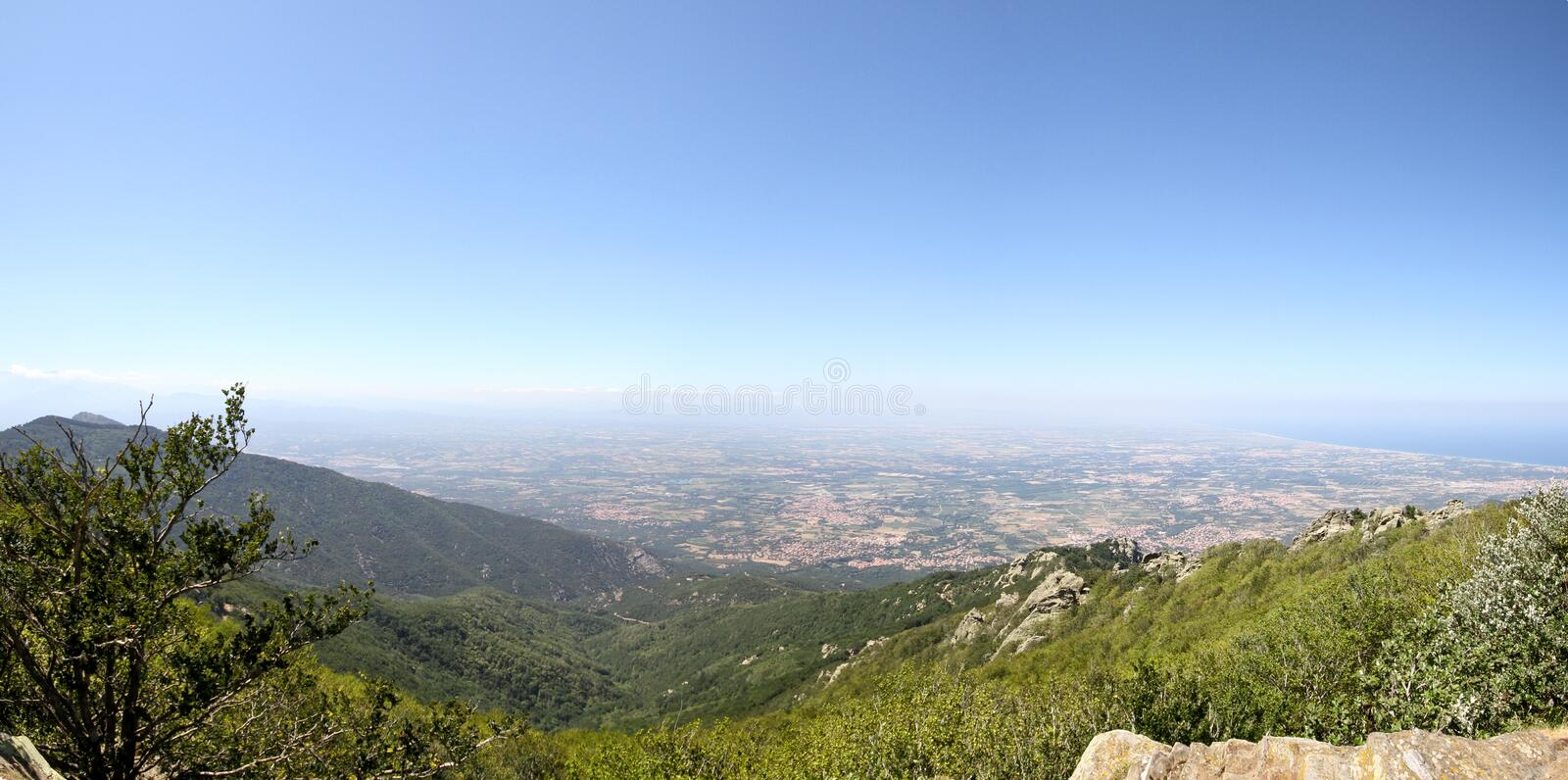 Download Panoramic Landscape stock image. Image of view, mediterranean - 15256875