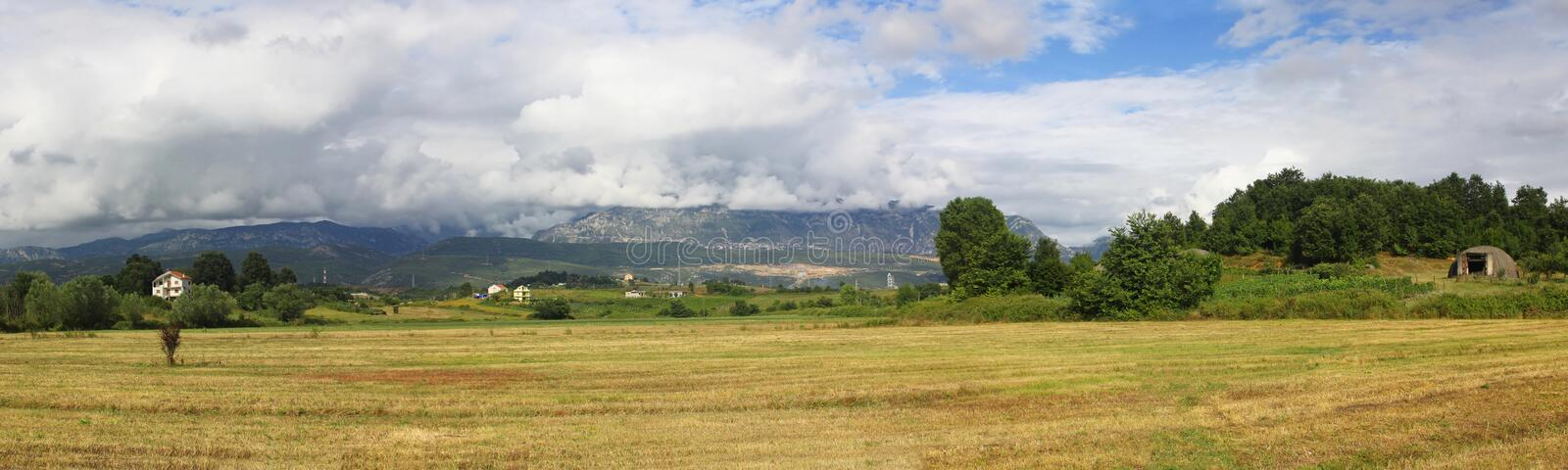 Panoramic landscape in Albania royalty free stock images