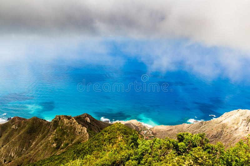 Panoramic landscape in Anaga mountains, Tenerife Canary Islands, Spain royalty free stock photography