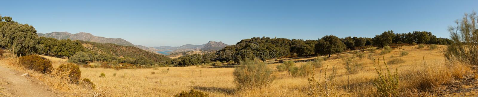 Panoramic landscape photo of Sierra de Grazalema. stock images