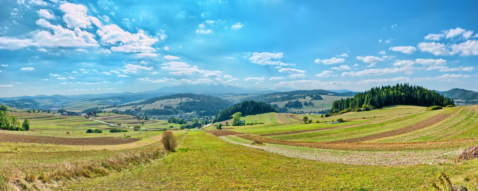 Download Panoramic Landscape In Pieniny Mountains Stock Photo - Image: 27810180