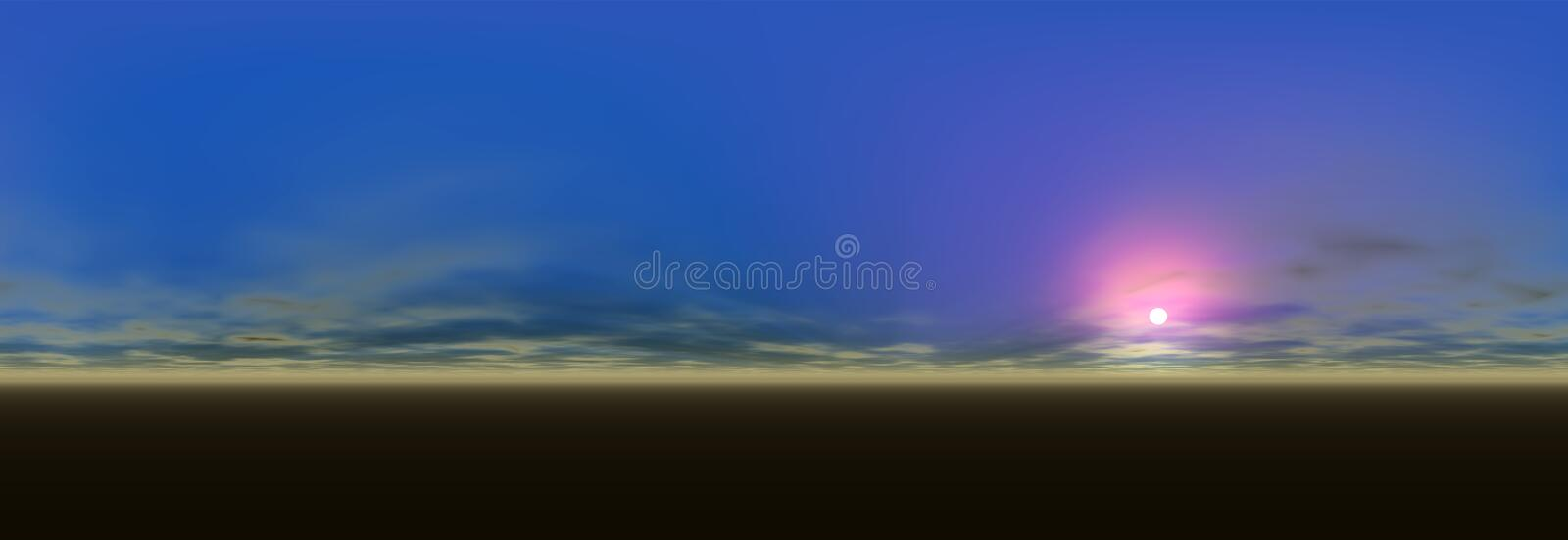 Download Panoramic landscape view stock illustration. Image of white - 37872