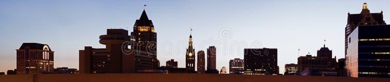 Panoramic Milwaukee royalty free stock photo