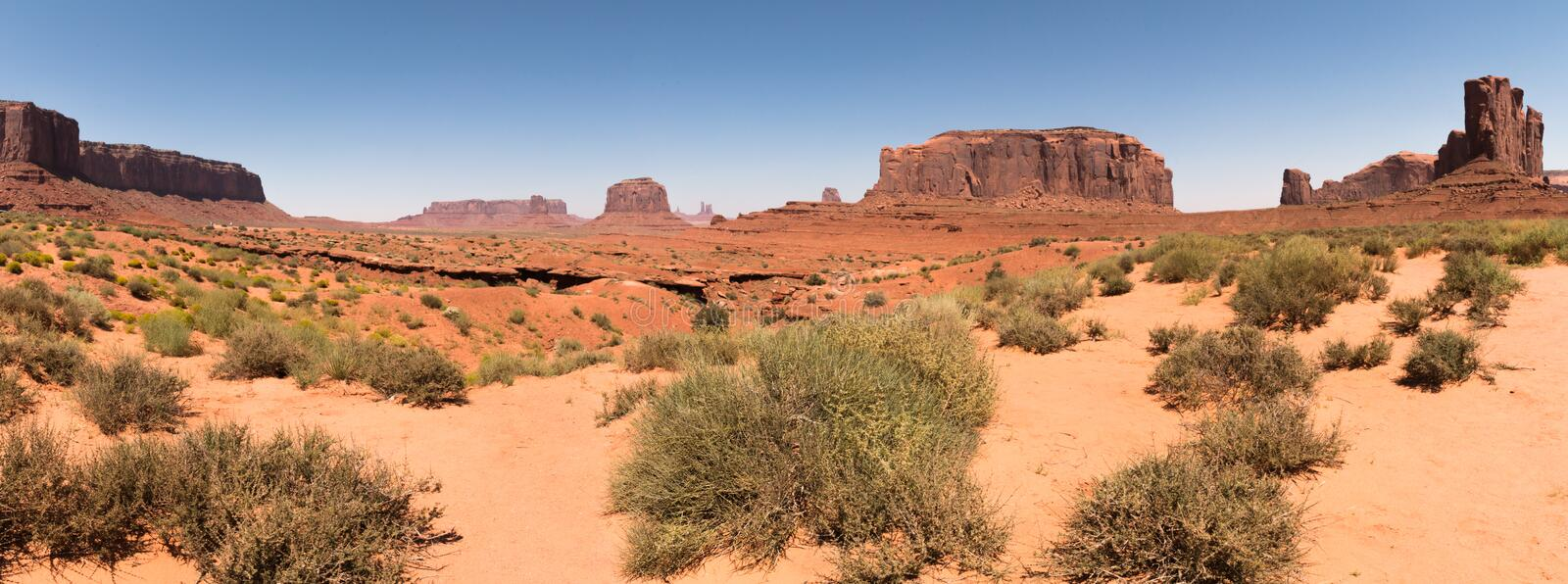 Panoramic of Monument Valley , Utah, USA stock images