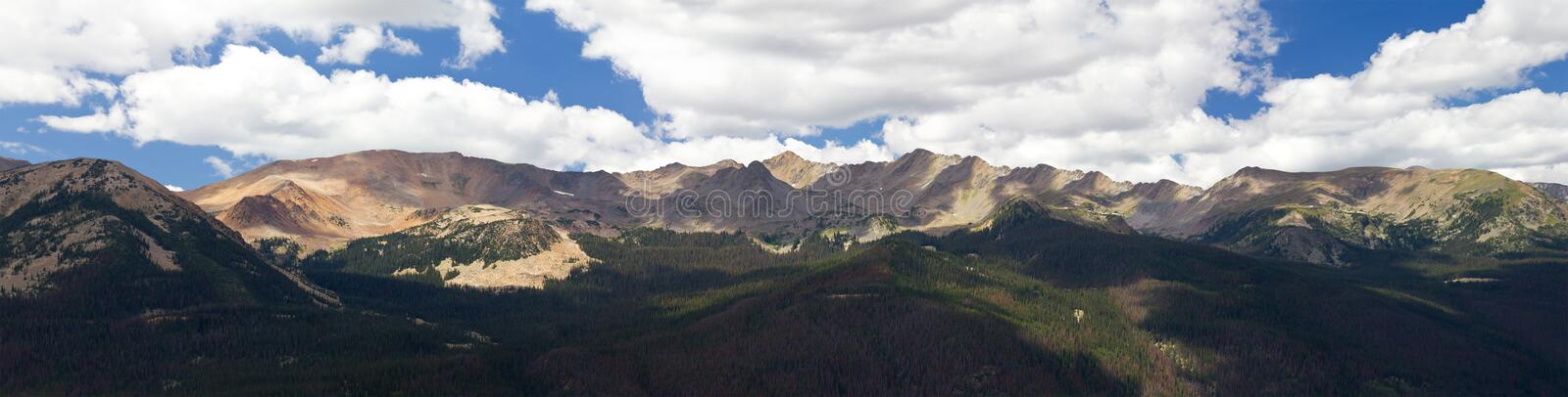 Panoramic Mountain Landscape in Colorado royalty free stock photography