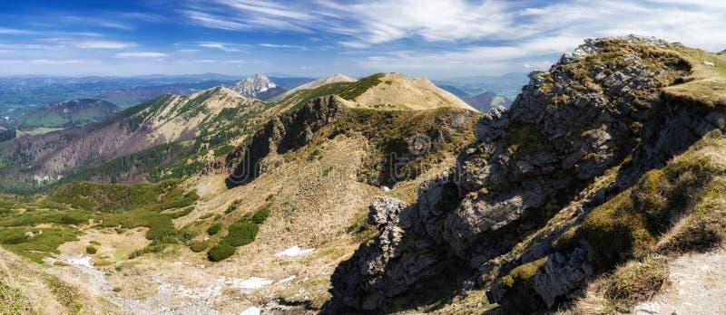 Panoramic mountain landscape royalty free stock photo