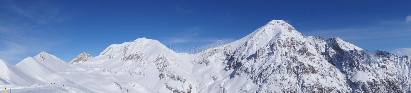 Panoramic Mountain range royalty free stock photos