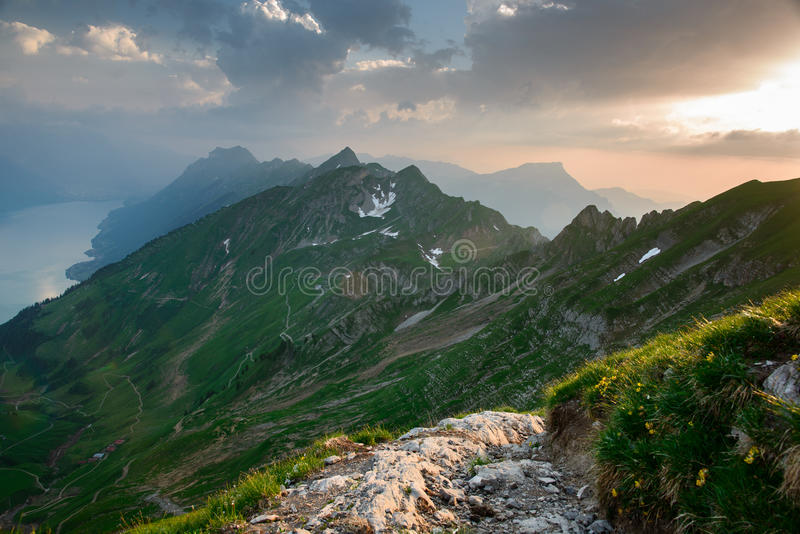 Download Panoramic Mountain View From Brienzer Rothorn Stock Image - Image: 28683825