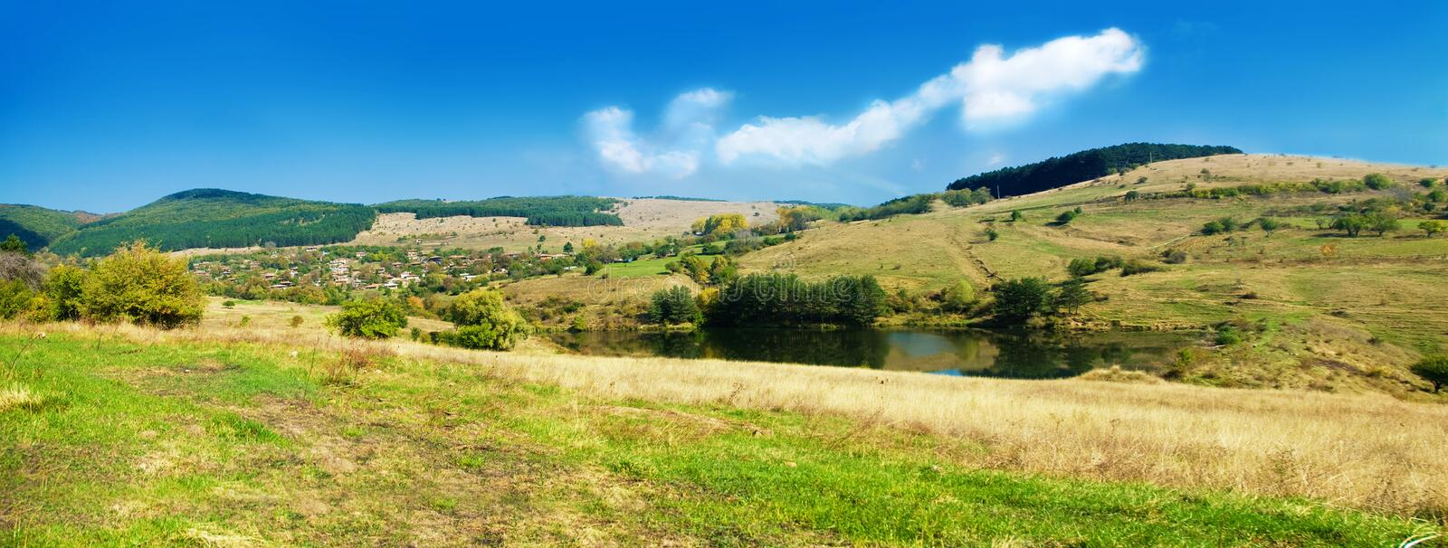 Panoramic nature royalty free stock photography