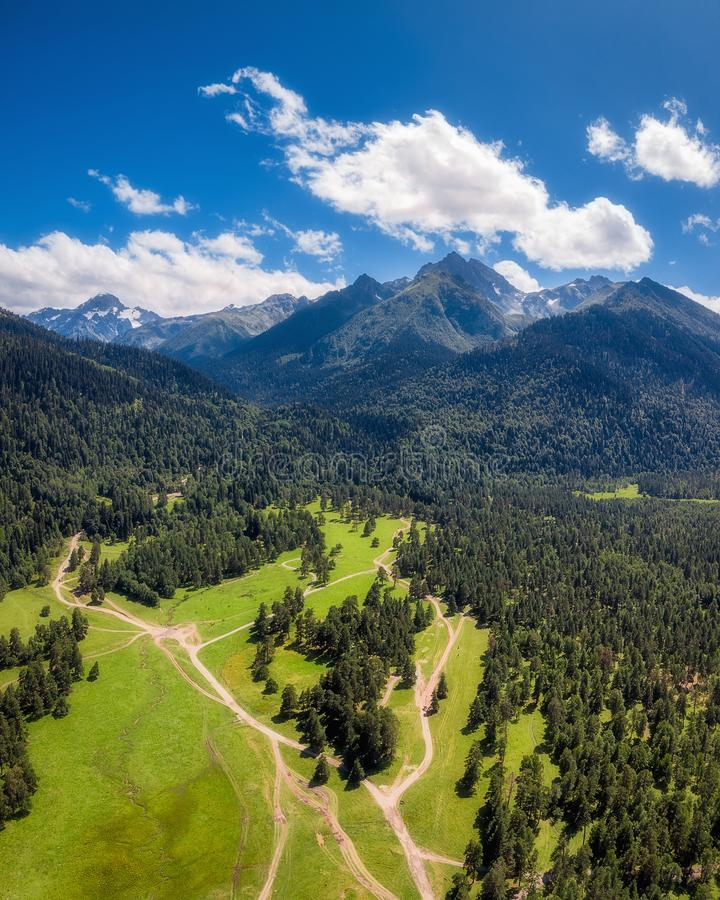 Panoramic nature mountains landscape royalty free stock images