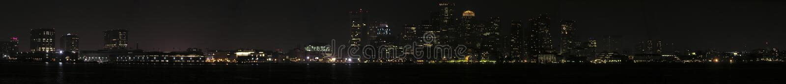 Download Panoramic Night View Of Boston From The Harbor Stock Photo - Image: 2023948