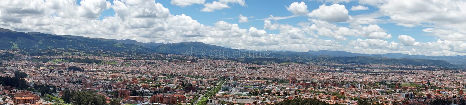 Panoramic overhead view of Cuenca royalty free stock image