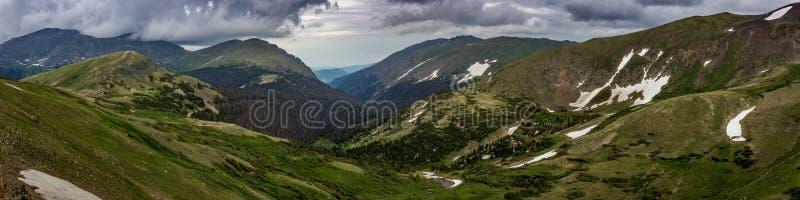 Alpine Visitor Center Panorama royalty free stock photo