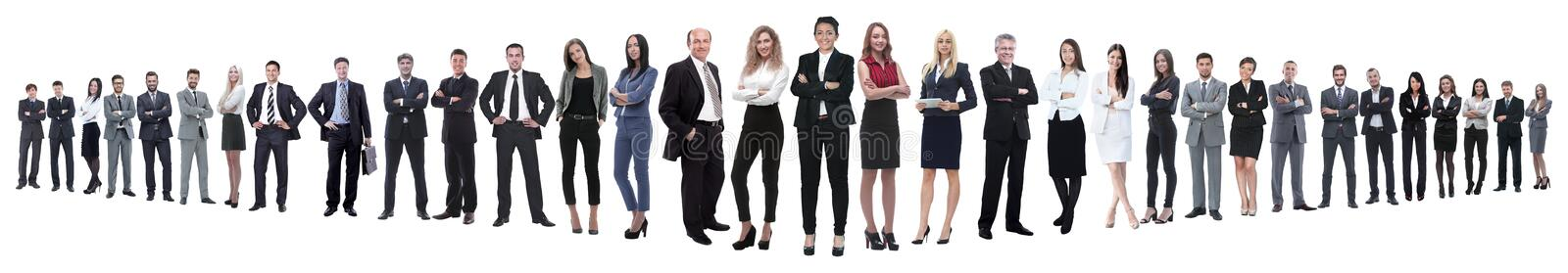 Panoramic photo of a group of confident business people. royalty free stock photos