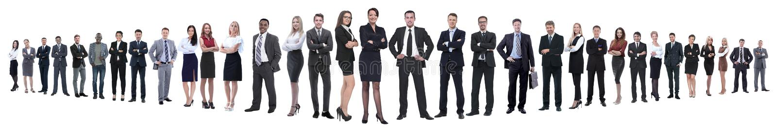 Panoramic photo of a group of confident business people. stock photos
