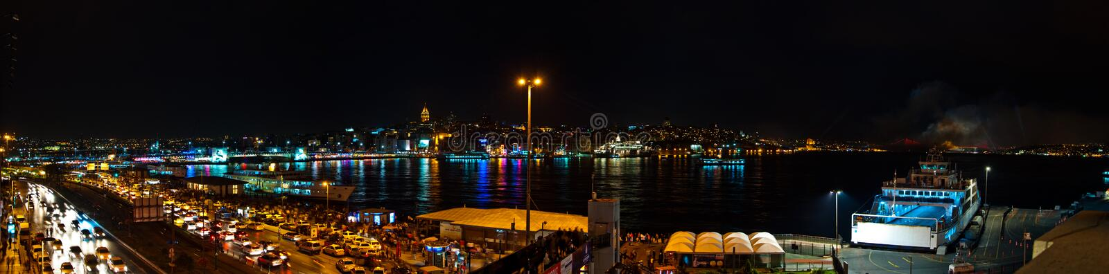 Night Ctiy crowed people stock images