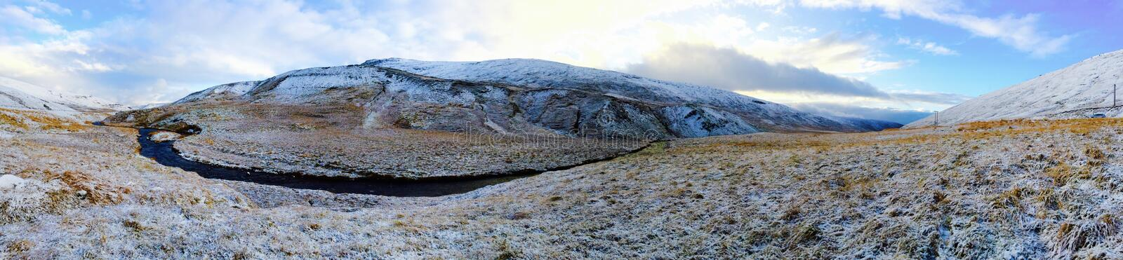 Panoramic Photo of Mountain stock photography