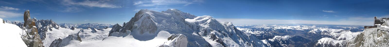 Download Panoramic Picture Of Mont Blanc, French Alps Royalty Free Stock Image - Image: 12425516