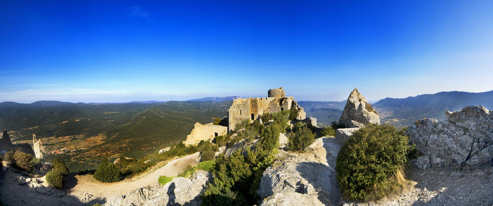 Panoramic of Pyrenees Mountains. France stock photography