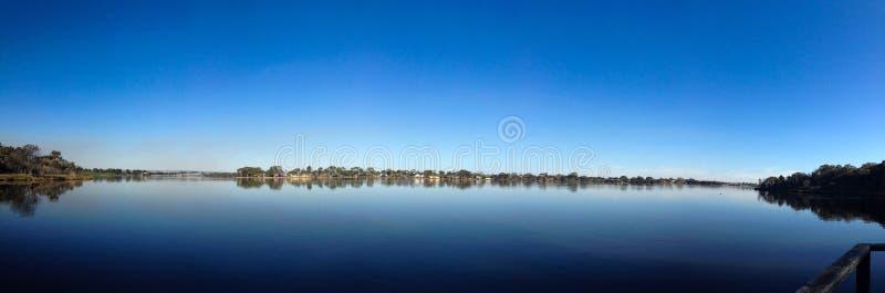 Panoramic river view stock image