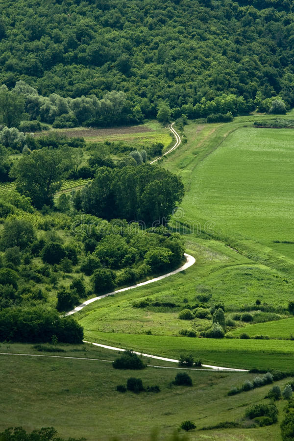 Free Panoramic Road In The Mirna Valley Royalty Free Stock Photos - 21601738