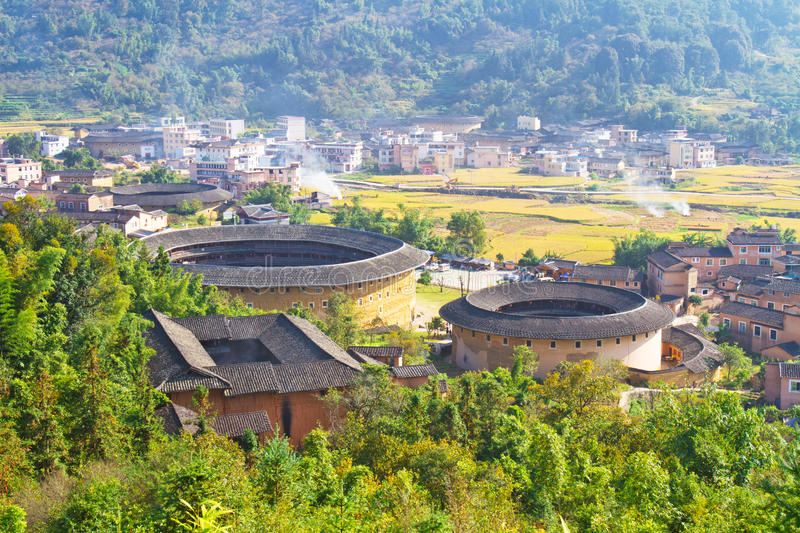 Download The Panoramic Of The Round Hakka Earth Building Stock Image - Image: 17375399