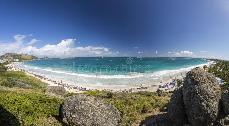 Panoramic of Saint Martin, Sint Maarten: Caribbean Beaches stock photo