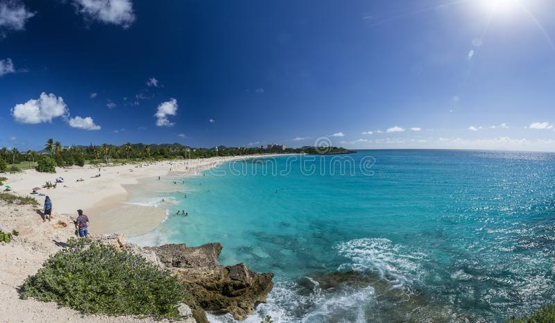 Panoramic of Saint Martin, Sint Maarten: Caribbean Beaches. The best from the Caribbean stock photography