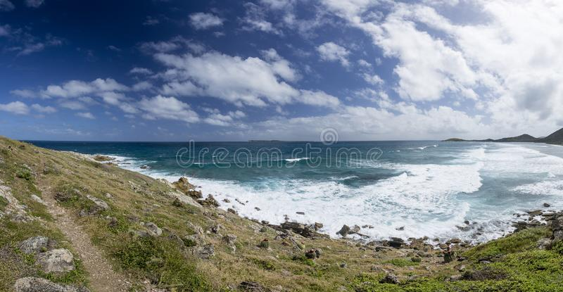 Panoramic of Saint Martin, Sint Maarten: Caribbean Beaches royalty free stock image