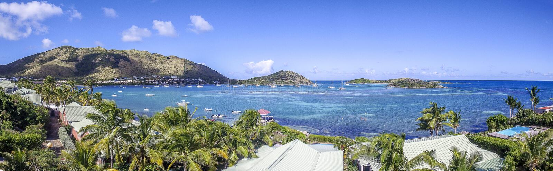 Panoramic of Saint Martin, Sint Maarten: Caribbean Beaches stock image