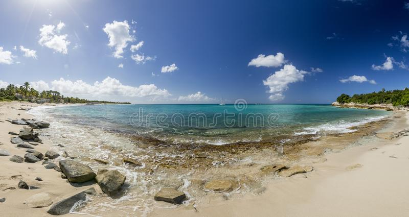 Panoramic of Saint Martin, Sint Maarten: Caribbean Beaches. The best from the Caribbean stock image