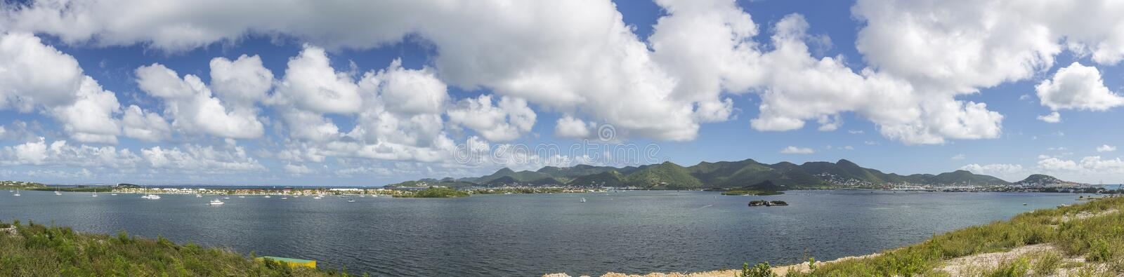 Panoramic of Saint Martin, Sint Maarten: Caribbean Beaches. The best from the Caribbean royalty free stock photos
