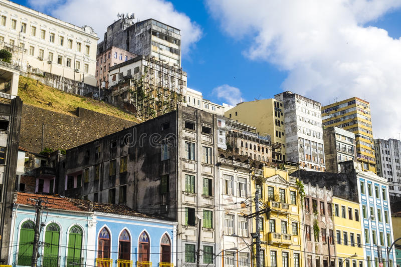 Panoramic of Salvador de Bahia. Brazil royalty free stock image