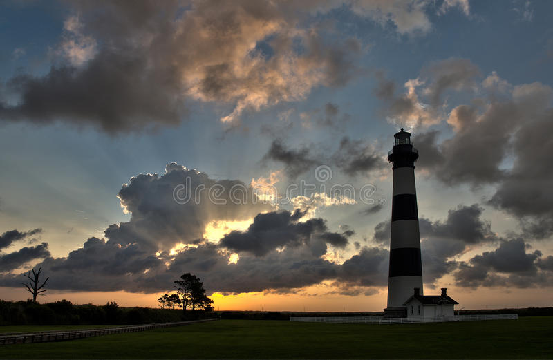Lighthouse at dawn royalty free stock photography