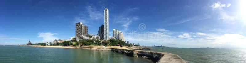 Panoramic shot of Pattaya city, Thailand royalty free stock image