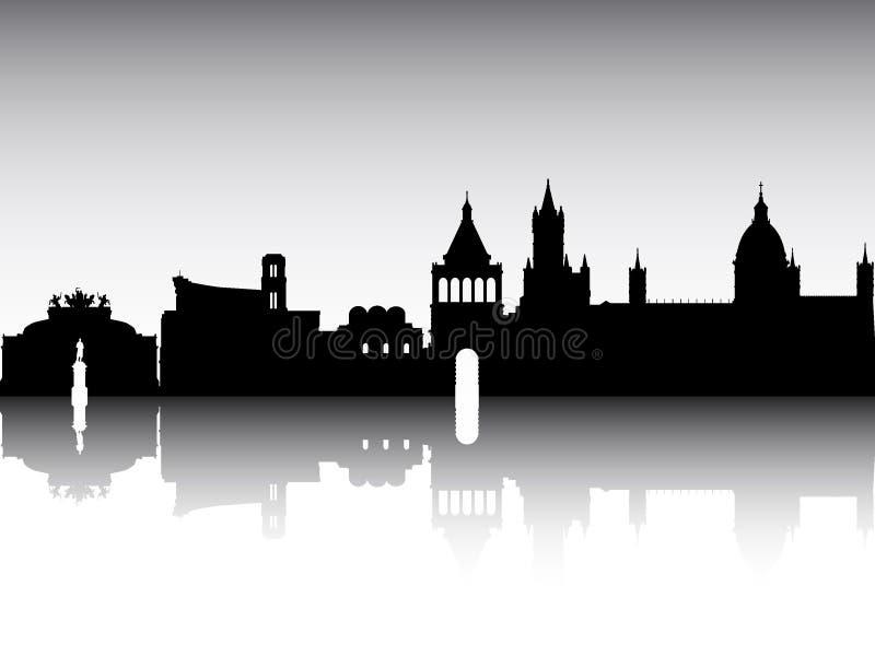 Landmarks silhouette set — Stock Vector © angelp #5243684 |Sicily Landmark Silhouette