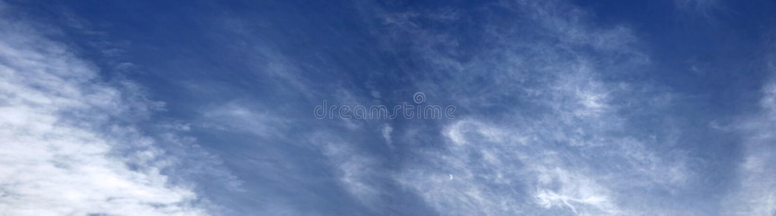 Download Panoramic sky stock image. Image of moon, panorama, clouds - 22992351