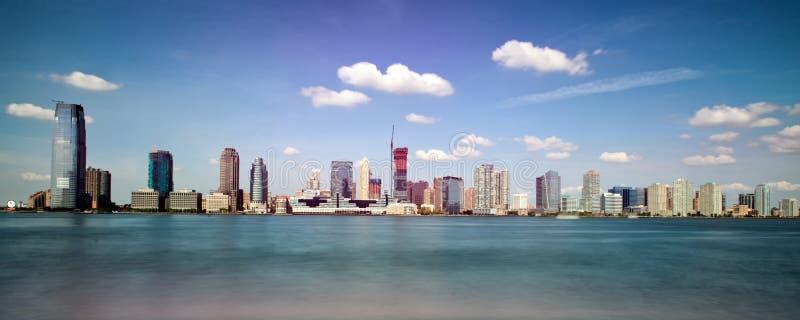 Panoramic skyline view of New Jersey, New York royalty free stock photos