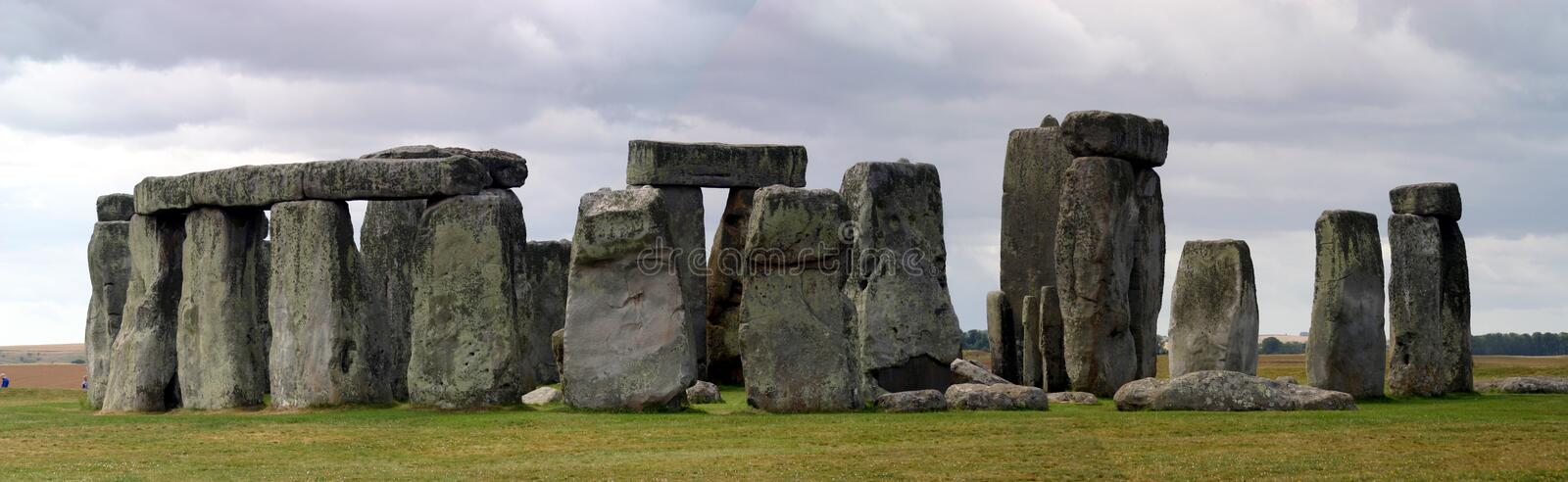 Panoramic stonehenge royalty free stock photos