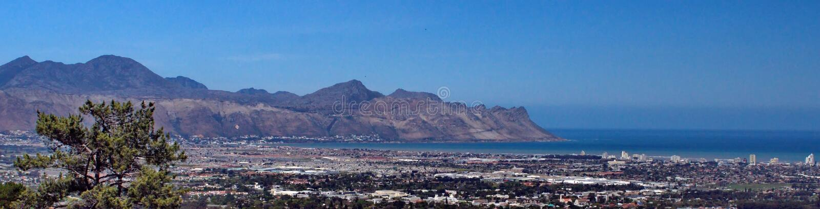 Panoramic of Strand, South Africa stock photos