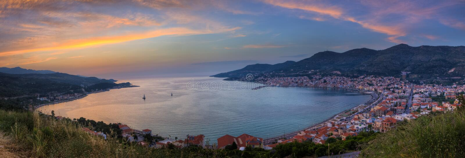 Panoramic Sunset View royalty free stock photography